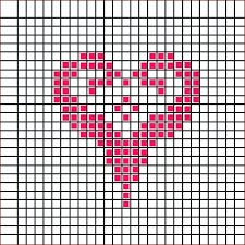Pildiotsingu вышивка крестом сердечки tulemus Cross Stitch Numbers, Cross Stitch Heart, Cross Stitch Borders, Cross Stitch Alphabet, Cross Stitch Patterns, Knitting Charts, Knitting Patterns, Crochet Patterns, Loom Beading