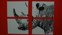 Es war eigentlich nur ein Versuch, ob sich diese Technik auch für andere Motive als Portraits eignet. Daraus wurde eine Serie von 10 Bildern. Dieses ist 70x120 cm groß und besteht aus einer Leinwand 70x120 auf die vier kleinere Leinwände montiert wurden.