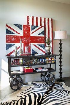 Inspirações de Union Jack na decoração!
