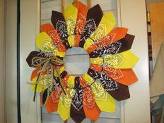 Fall Bandana Wreath