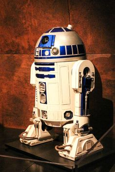 "R2D2 costume on display at ""Star Wars and the Power of Costume."""