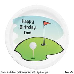 Dads\u0027 Birthday - Golf Paper Party Plates  sc 1 st  Pinterest & Personalized Vintage Style Highlands Golfing Scene iPad Air Cover ...