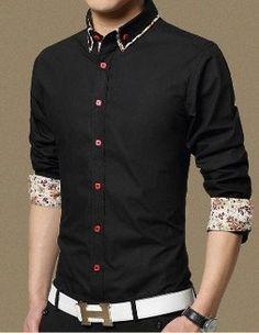Men's Shirt with Floral Design