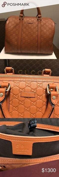 Gucci Boston Bag - NWOT Gucci Boston Joy - NWOT - beautiful brown color- 265697- Box and Dust Bag included - please no ridiculous offers! - over $1900 new! Gucci Bags