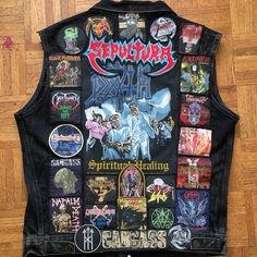chrisjehly from USA #battlejacket #metalpatches #metaljacket #kutte #bandpatch #bandpatches #battlevest  #heavymetal #thrashmetal  #denimjacket #patchedvest #deathmetal  #metalpatches  #metal #wovenpatch #metalmaniacs #metalmaniac #metalvest #metalkutte #hanneman #slayernation #carcass