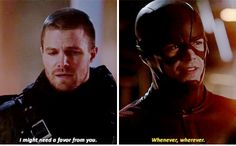 The Flash - Oliver & Barry Supergirl Dc, Supergirl And Flash, Cw Crossover, Flash Crossover, Arrow Cw, Team Arrow, The Flash Season 1, The Flash Grant Gustin, Cw Dc