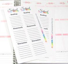 School This Week Task Planner Sticker for Erin by PlannerPress