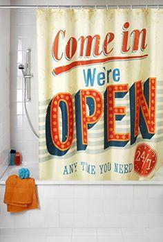 #Cortina de #Ducha #Vintage #Antimoho Wenko Esta cortina de ducha se caracteriza por estar confeccionada con la particularidad de que es antimoho , lo que le co