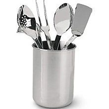 $99.95 Renowned worldwide for its cookware collections, All-Clad now makes kitchen accessories, and that's welcome news to serious and professional cooks. The five in this set are perfect examples of the tools' professional-grade quality. They're made of heavy 18/10 stainless steel that is polished to a mirror finish.