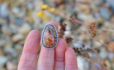 Sterling Ring size 5.75. Size 6. Cherry Creek Jasper. by Arrok