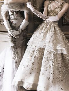 """""""The American Experience"""" Carolina Herrera and Oscar De La Renta gowns photographed by David Sims for Vogue May 2010"""