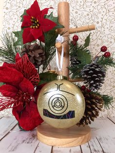 Star Wars Christmas Ornament - C3PO Holiday Bauble - Goldenrod Gold Droid Christmas Decoration