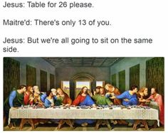 """lambrini-socialism: """" themorbidmedic: """" evangeline-elena: """" aubscares: """" fun fact: The last supper would have been more like this, according to tradition: """" so casual i love it """" a sleepover with jc..."""