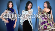 CROCHET AND KNITTING SHAWL WRAP COLLECTION Part 1 http://www.sheruknitting.com/sherufashion/collections/item/707-crochet-and-knitting-shawl-wrap-collection.html In this video you will see many ideas for crocheted and knitted shawls and wraps. Each of them is perfectly suited for the special occasions or for every day use. Great gift idea.