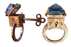 A unique ring with a large Topaz, the Topas hides a stash that can be opened with special key.