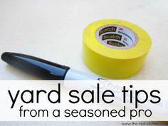 Yard Sale Tips From A Seasoned Pro  --Yard sale season is upon us!    Follow these helpful tips to make yours your most successful sale yet.--    www.the-red-kitchen.com