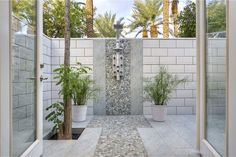 There's nothing better than an outdoor shower! Give your outdoor space some extra love with our Perfect Pebble 12x12 Natural Stone in Birds Egg. Great for many different outdoor projects, Perfect Pebbles seamless appearance, unmatched quality, and smooth, flat surface make it the premier pebble tile in the world. They retail starting at $19.13 SQ FT.