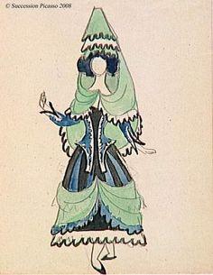 Picasso,Women's Costume  Ballet: The Three-Cornered Hat