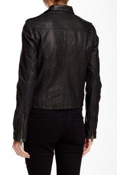 Doma Washed Genuine Leather Jacket