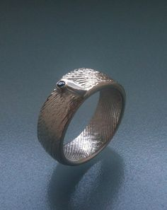 Cuttlefish bone band ring in sterling with by JenniferStenhouse, $180.00