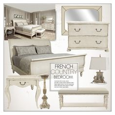 """French Country Bedroom"" by kathykuohome ❤ liked on Polyvore featuring interior, interiors, interior design, home, home decor, interior decorating, bedroom, country, Home and homedecor"