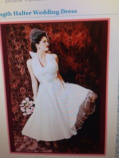 Love this 50's style wedding dress.