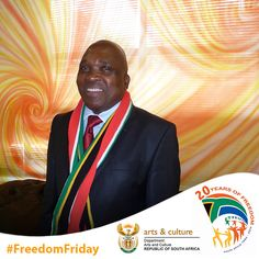 Deputy Arts and Culture Minister Joe Phaahla proudly showing off his South Africanness! #FreedomFriday