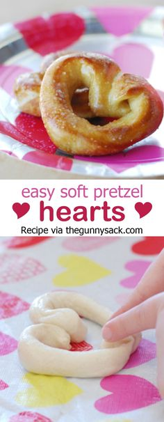 Easy Soft Pretzel Hearts recipe that is perfect for Valentine's Day!