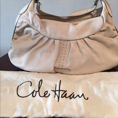 Cole Haan white leather hobo shoulder bag. Like new. Cole Haan Bags Shoulder Bags