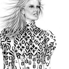 Louis Vuitton Fall Ready-to wear 2015 Fashion Illustration by Alexandra Clarke