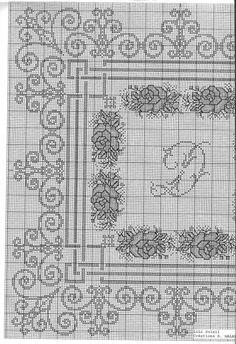 Cross Stitch Borders, Cross Stitch Rose, Cross Stitch Flowers, Cross Stitch Designs, Cross Stitching, Cross Stitch Patterns, Ribbon Embroidery, Cross Stitch Embroidery, Hand Embroidery Design Patterns