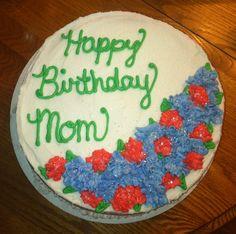 Hydrangea birthday cake for mom