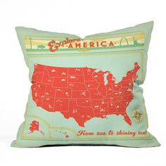 Kinda obsessed with this pillow. Wish they had other countries, too.