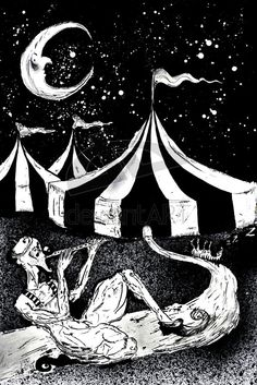 "Circus: ""Night by strange-and-fake, at deviantART. Dark Circus, Circus Art, Circus Theme, Circus Book, Circus Background, Circus Aesthetic, Circus Illustration, John James Audubon, Night Circus"
