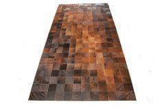 Brown Mosaic Hide Rug  @flea_pop