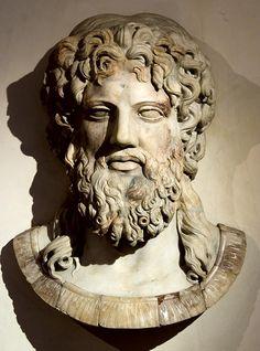 Jupiter (Zeus), Roman relief (marble), copy after Greek original, 2nd century AD (original 5th-4th c. BC), (Palazzo Altemps, Rome).