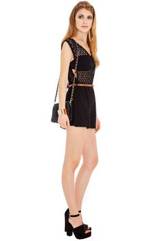 Kejani Crochet Lace playsuit via Frocksville. Click on the image to see more!
