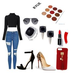 """Casual Sexy/Date Night"" by nekac on Polyvore featuring Topshop, Balmain, Wild Diva, Christian Louboutin, Henri Bendel, John Hardy, Diana M. Jewels and Marc Jacobs"