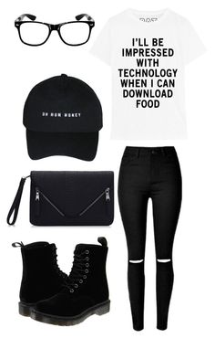 """This shirt describes my life"" by musicmelody1 ❤ liked on Polyvore featuring Dr. Martens"