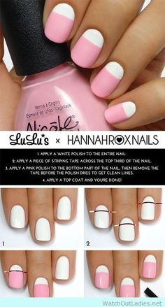 Really easy pink manicure for begginers