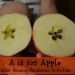 A is for Apple {Toddler Reading Readiness Activities}