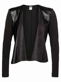 PU DRAPY L/S BLAZER VERO MODA #veromoda #blazer #black #fashion #style @Veronica MODA