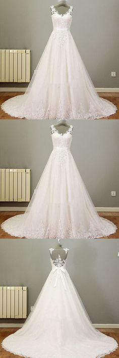 Wedding Dresses: New White/Ivory Lace Wedding Dress Bridal Gown Custom Size 6-8-10-12-14-16-18 BUY IT NOW ONLY: $120.0