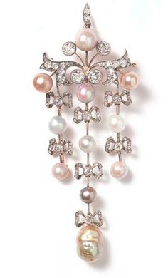 Faberge Pearl And Diamond Pin  ♥♥