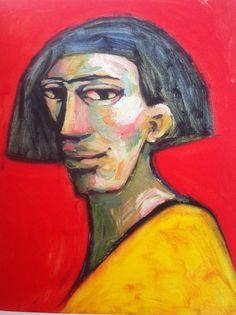Female head, 40x 50cm, oil on canvas ©erminepoort