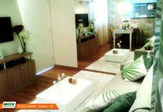 Apartamento decorado 2 dormitórios do Parque Seletto no bairro Casa Branca - Suzano - SP- MRV Engenharia - Sala