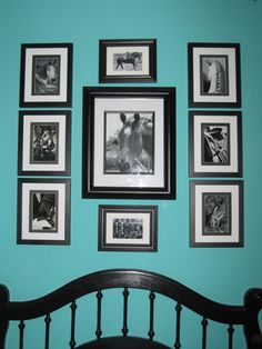 DIY Equestrian Photo Collage How To.... color of my walls and pretty much what we did in our entry, but with family pics