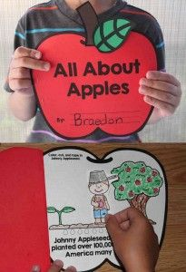 All About Apples Book - a great interactive book to teach students all about apples from Simply Kinder!
