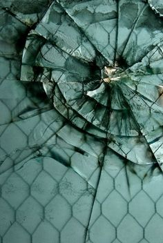 """""""Fisher Body 21"""", #shattered glass in a former auto body repair factory, #Detroit."""