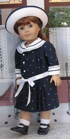 navydots 1 by Sugarloaf Doll Clothes, via Flickr